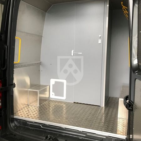 Foamlite® - plastic vehicle construction sheets in a service van