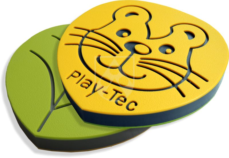 Playground material Play Tec® three coloured